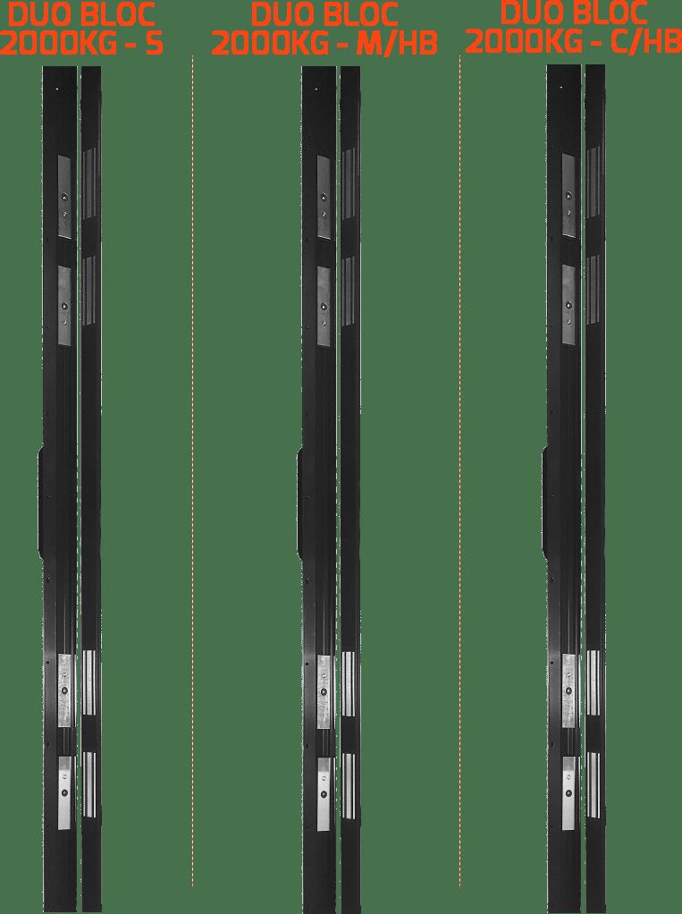 BANDEAUX VENTOUSES - DUO BLOC 2000KG 4 VENTOUSES