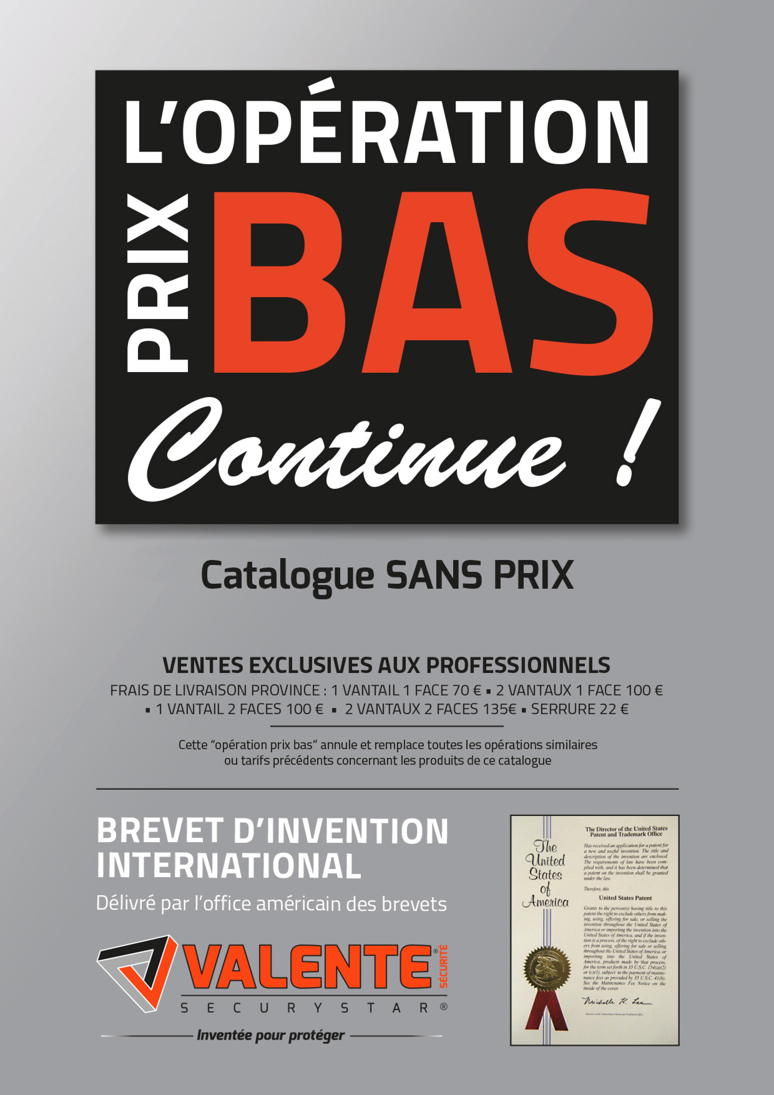 Preview Catalogue Opération prix bas Sans prix